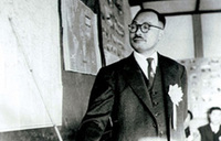 "Speaking on ""Acupuncture and Moxibustion in Germany and France"" after his return to Japan (1955)"